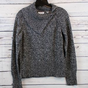 VILLAGER COWL BUTTON NECK KNITTED SWEATER A193